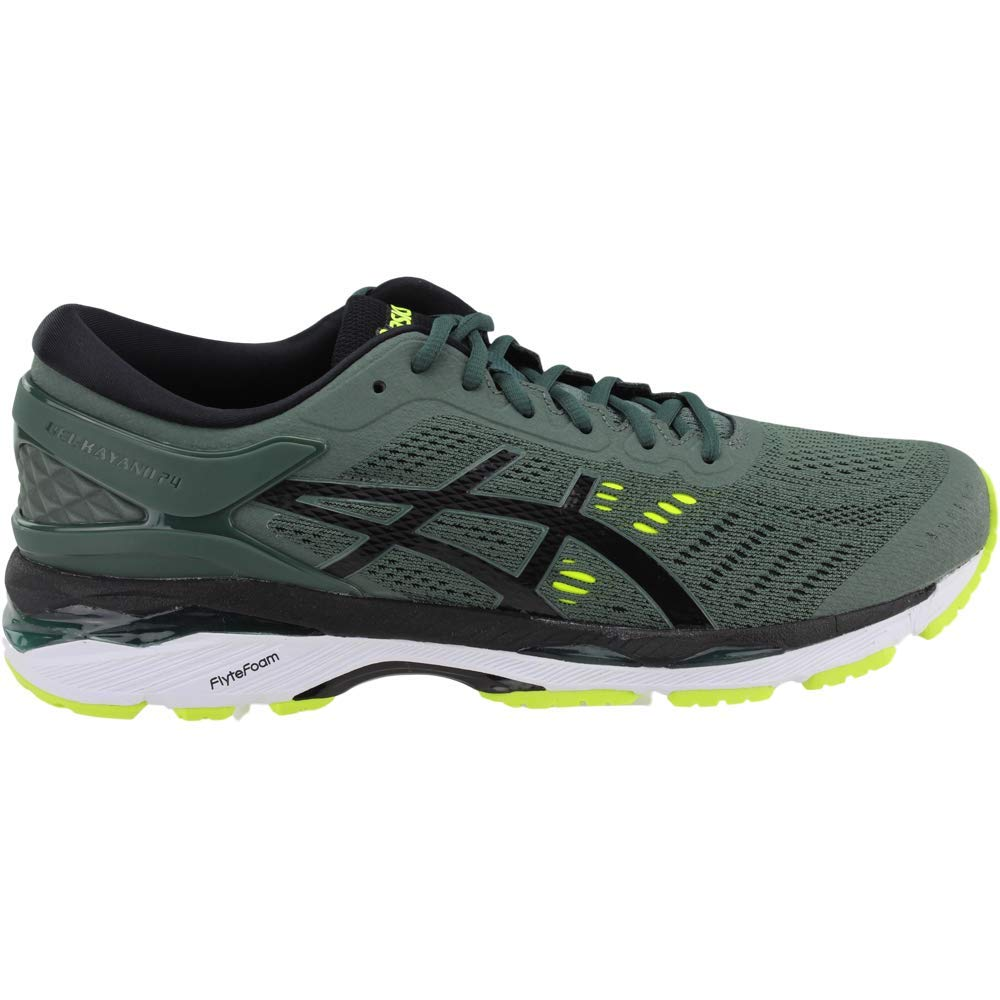 ASICS Men's Gel-Kayano¿ 24 Dark Forest/Black/Safety Yellow 6 D US by ASICS (Image #2)
