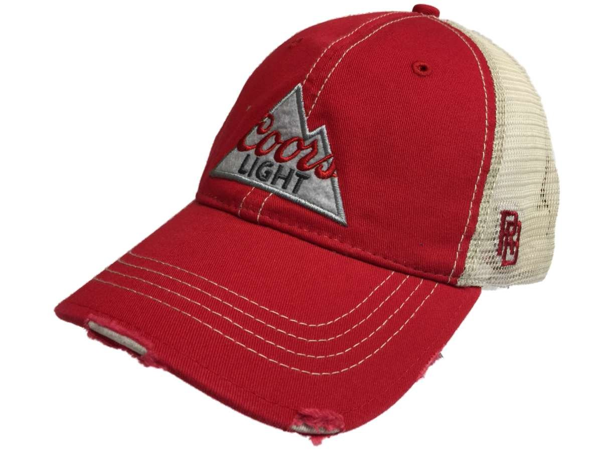 9773c6270e4 Amazon.com  Coors Light Brewing Company Retro Brand Vintage Mesh Beer  Adjustable Hat Cap  Sports   Outdoors