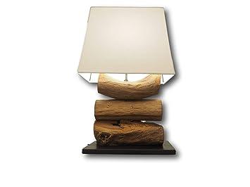 De Recyclé Rustique Rustic Lampe Table Of Bois Tiga House dCrBoex