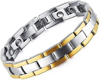 Men/'s Healthy Therapy Bracelet Titanium Steel Magnetic Bangles Jewelry FV