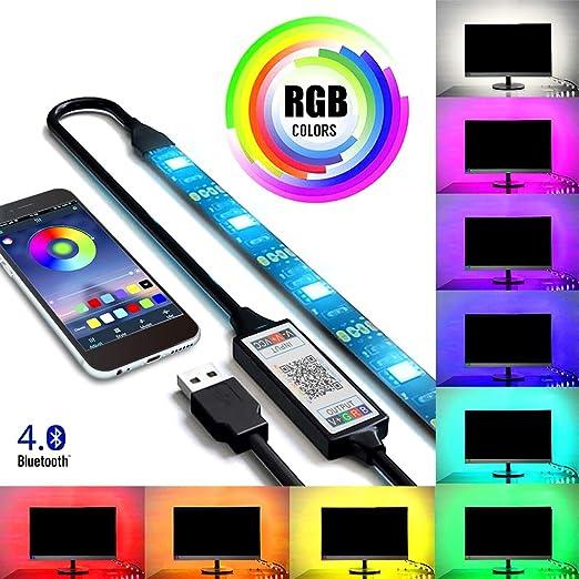 Tutmonda 5M RGB 30LED Luz de tira Wireless Smartphone App Control ...