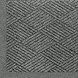 Andersen 2297 Waterhog Eco Premier Fashion Pet Polyester Fiber Indoor/Outdoor Floor Mat, SBR Rubber Backing, 5-Feet Length X 3-Feet Width, 3/8-Inch Thick, Grey Ash