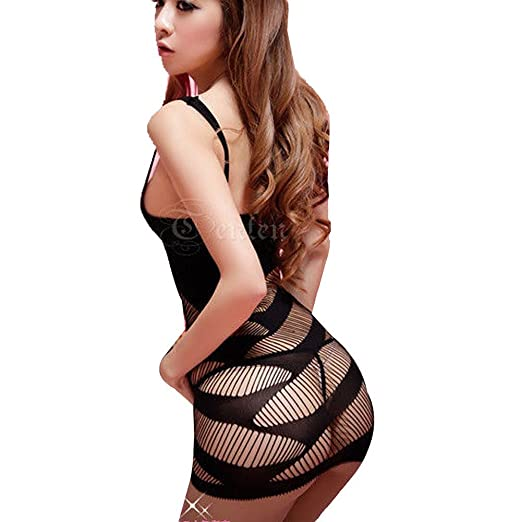 5bd3d98ed Image Unavailable. Image not available for. Color  ACEFAST INC Sexy Lingerie  Women Intimate Fishnet Bodystocking Dress Erotic Stripper ...