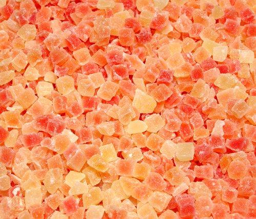 Dried Diced Papaya, Low Sugar No Sulfur (Natural Dices, no SO2)