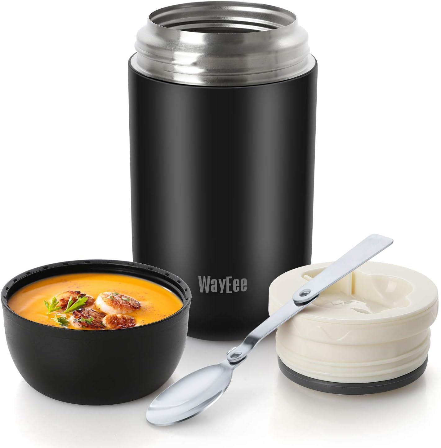 WayEee Termo para Comida 710ml Botella Aislada de Acero Inoxidable Aislada para Alimentos, Beber y Sopa de los niños y Las Comidas de Adultos
