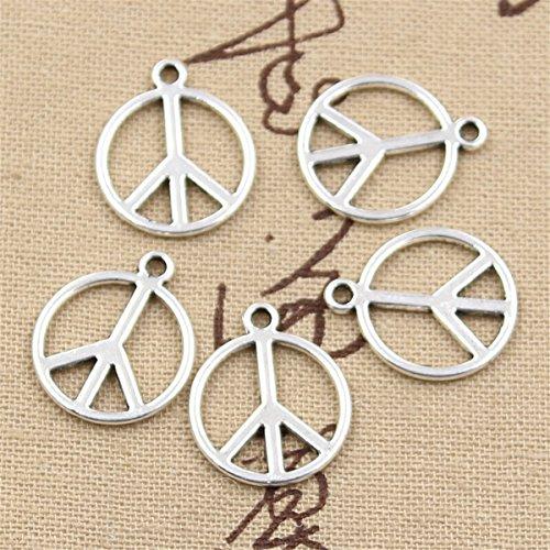 50pcs Charms Peace Sign Symbol 21x17mm Antique Making Vintage Tibetan Silver Zinc Alloy Pendant