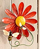 MattsGlobal Classic Ready to Hang Flower Garden Metal Wall Spinners (Bumblebee)