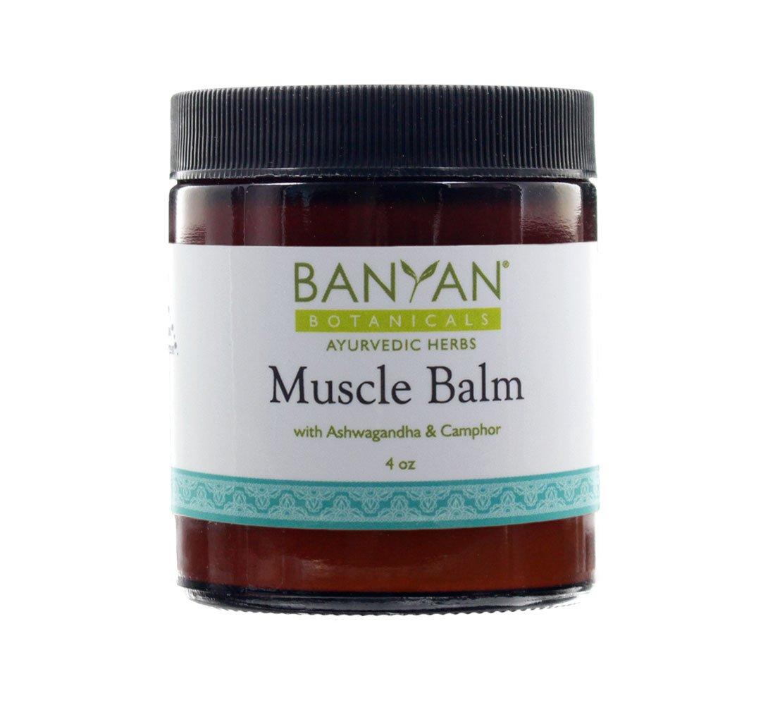 Banyan Botanicals Muscle Balm - 99% Organic - Relax & Rebuild Sore, Tired, Aching Muscles - Ashwagandha & Camphor by Banyan Botanicals