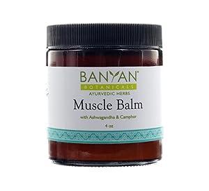 Banyan Botanicals Muscle Balm - 99% Organic - Relax & Rebuild Sore, Tired, Aching Muscles - Ashwagandha & Camphor