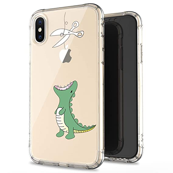check out 84037 7d9a8 JAHOLAN iPhone X Case iPhone Xs Amusing Whimsical Design Clear Bumper TPU  Soft Case Rubber Silicone Cover Phone Case for iPhone X iPhone Xs - Green  ...