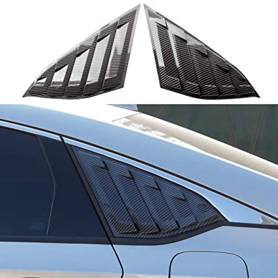 JIECHEN Compatible with Honda Accord Sedan 2020 2020 2020 2PCS Rear Window Quarter Side Vent Window Louvers Scoop Cover: Automotive