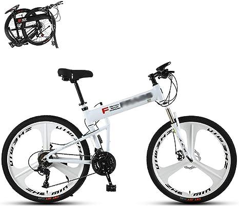 STRTG Adultos Plegado Bike, MontañA Bicicleta Plegable, Bicicleta Plegable Urbana,Sillin Confort, 24 * 27 * 30 Velocidades24*26 Pulgadas Unisex portátil Urbana Bicicleta: Amazon.es: Deportes y aire libre