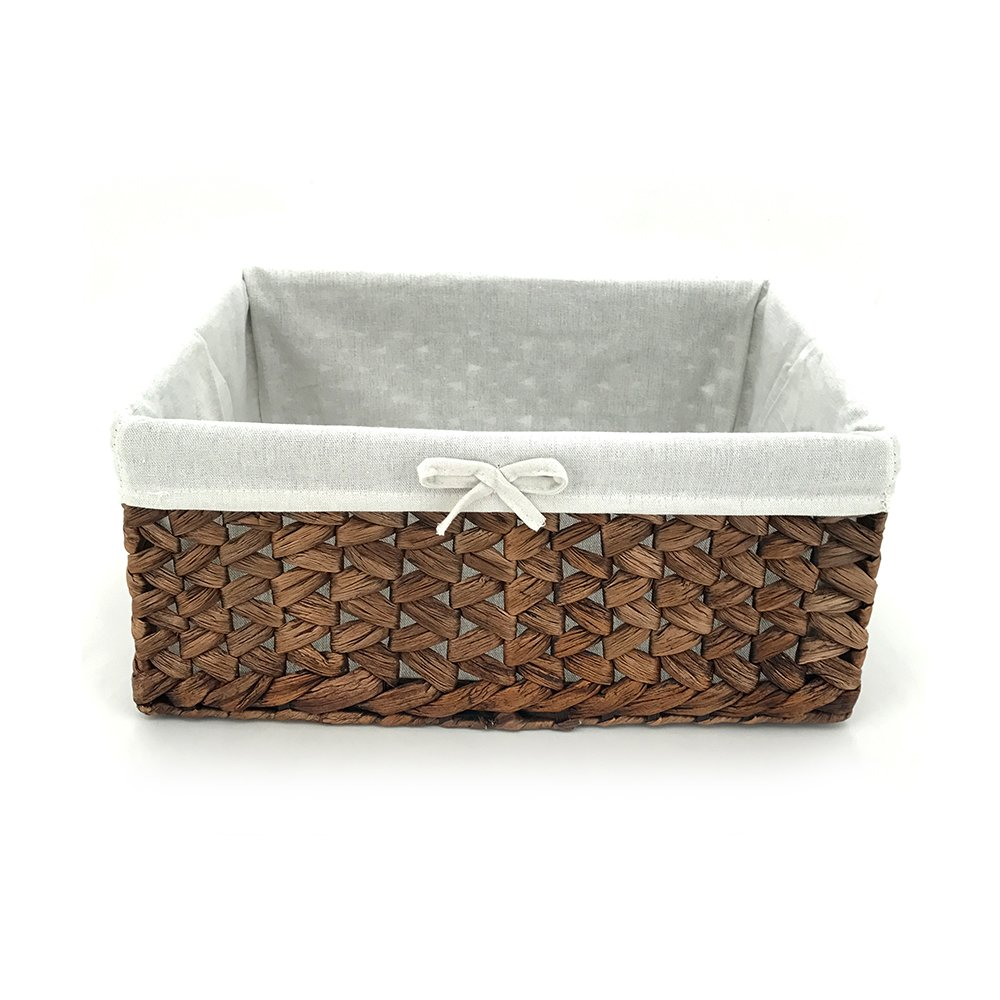 Amazon.com: Rectangular Woven Seagrass Storage Bins with Handle ...