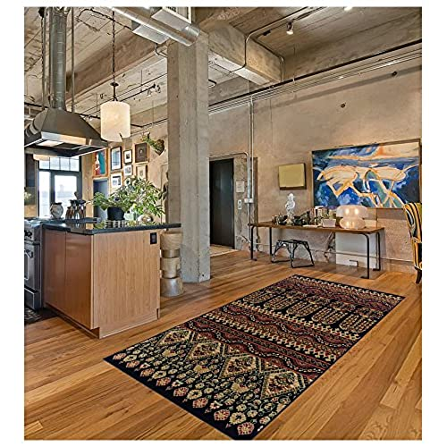 Superior Adena Collection 5u0027 X 8u0027 Area Rug, Attractive Rug With Jute  Backing, Durable And Beautiful Woven Structure, Bright And Bold Southwest  Style Pattern