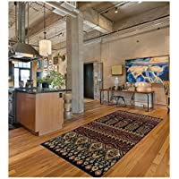 Superior Adena Collection 27 x 8 Runner Rug, Attractive Rug with Jute Backing, Durable and Beautiful Woven Structure, Bright and Bold Southwest Style Pattern