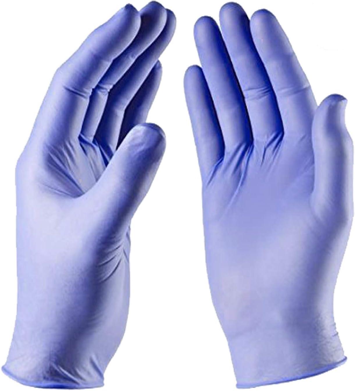 Blue Disposable Examination Medical Nitrile Vinyl Gloves Latex /& Powder Free PPE
