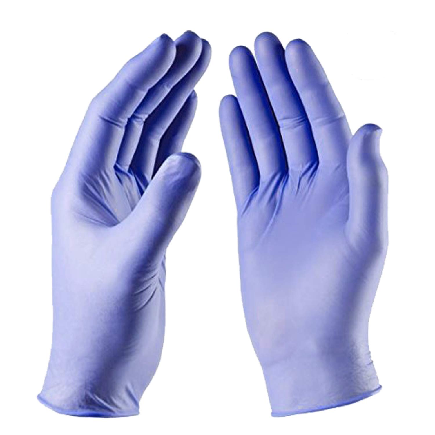 Blue Nitrile Exam Gloves - Medical Grade, Powder Free, Latex Rubber Free, Disposable, Non Sterile, Finger Tip Textured, 2.5 mil, Box of 200, KoolTouch, by Vivid (Medium)