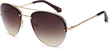 "PRIVÉ REVAUX ""The Warrior"" Handcrafted Designer Aviator Sunglasses For Men & Women"
