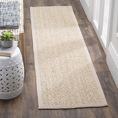 [Safavieh Natural Fiber Collection NF525C Marble Sisal Runner (2' x 8')] (Ivory Cream Marble)