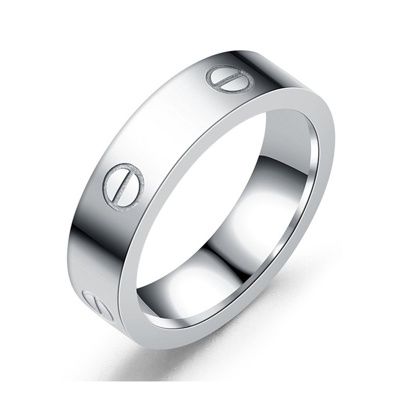 Mintrayor Lifetime Love Rings for Women Couples Engagement Titanium Stainless Steel Band Size 7 Silver