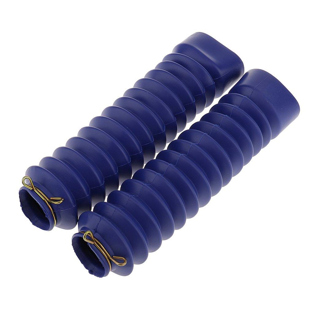 Bleu gazechimp Paire Cache-poussi/ère 210x45x30mm pour Botte en Caoutchouc Durable pour Moto C/ôt/é Avant