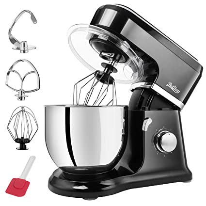 Betitay Kitchen Stand Mixer with Safe Lock Design and Pulse  Function,6-Speed Tilt-Head Food Mixer 500 Watts with 4.3 QT Stainless Steel  Mixing ...