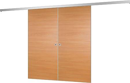 2 flügelige Puerta corrediza Puerta de madera puerta corrediza habitaciones haya 1760 X 2035 mm Puerta