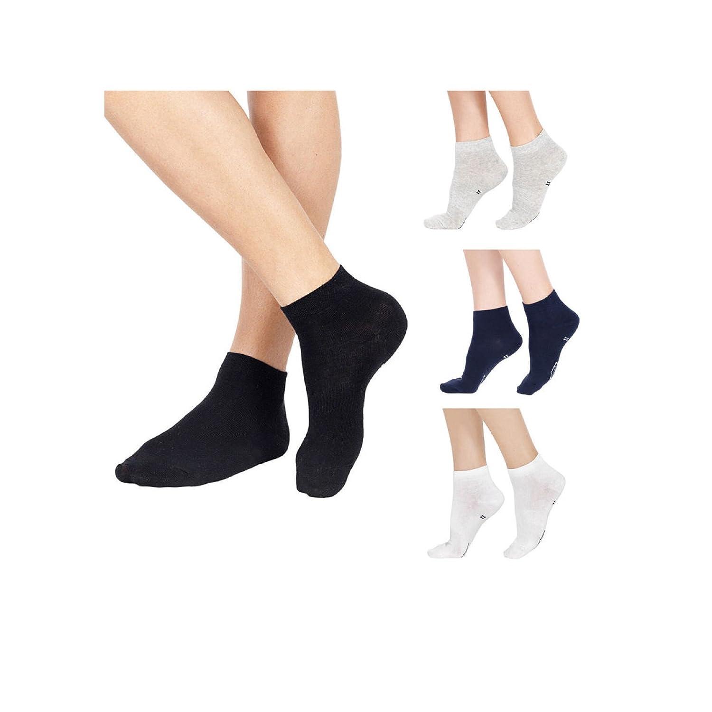 marroni e blu Sock Snob 6 paia calzini uomo corti cotone 100/% in neri