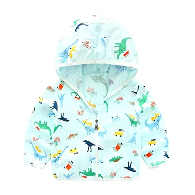 ANDYOU Kids Cotton Sun Protection Breathable Zip up Hoodie Sweatshirt