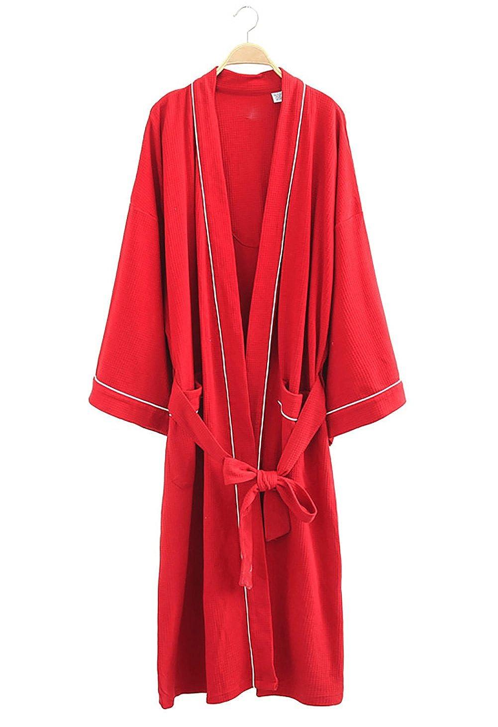 Cahayi Soft Women Men Bathrobe Lightweight Cotton Unisex Hotel Spa Robe Kimono CABR007