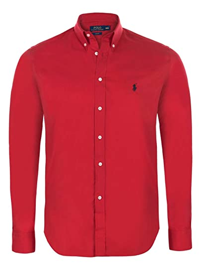 Camisa de manga larga de corte ajustado para hombre Ralph Lauren ...