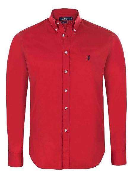 Camisa de manga larga de corte ajustado para hombre Ralph Lauren rojo XXL    Amazon.es  Ropa y accesorios 69a2d8eeeb1b7