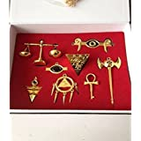 Yugioh Millenium Puzzle Ring Scale Key Necklace & Keychain by ameliaxh