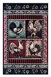 rugs chicken - Rooster Door Mat 2 Ft. X 3 Ft. 2 In. Design # L-379