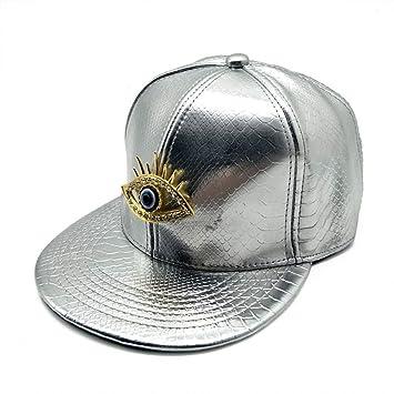 FDBQC Gorra para Los Ojos Sombreros De Cuero De Imitación Hip Hop ...