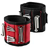 2 Packs Magnetic Wristband With Strong Magnets for Holding Tools Screws, Nails, Scissors, Drill Bits, Wrench, Fasteners, Best Tool Gift for DIY Handyman, Father/Dad, Grandpa, Husband By Mocoosy