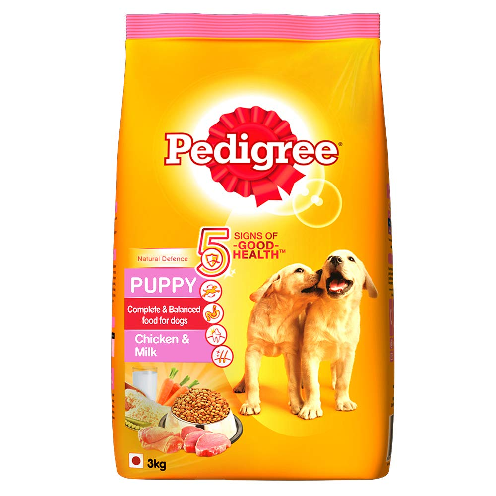 Pedigree Puppy Dry Dog Food, Chicken and Milk, 3kg Pack product image
