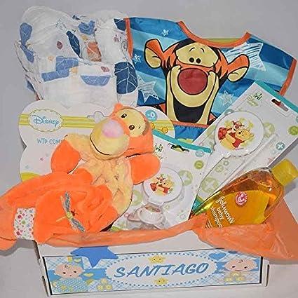 Canastilla Niño Tigrecito muselina y doudou: Amazon.es: Bebé