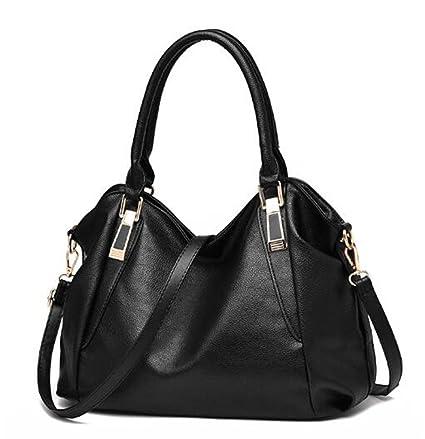 dbf3aad31cd7 Amazon.com: UOXMDNJC Women Handbag Female Pu Leather Bags Portable ...