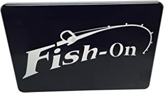 """product image for HMC Billet Fish On Aluminum Laser Engraved Trailer Hitch Cover - 4"""" x 6"""""""