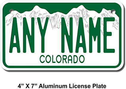 Trucks Key Rings Version 1 Cart Sizes for Kids Bikes Cars TEAMLOGO Personalized Colorado License Plate