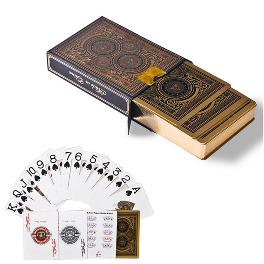 1 Set Mini Poker Playing Cards, Texas Hold'em Poker Game Cards Paper Game Travel Kits Party Game SELLBINDING