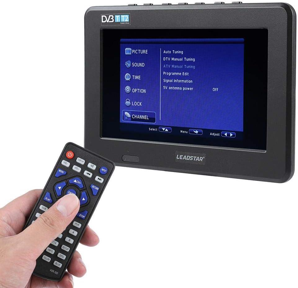 VBESTLIFE Mini televisor portátil HD TV Recargable Digital Portátil DVB-T DVB-T2, ATSC isdb TV Digital con Pantalla de 7 Pulgadas Soporte USB TF Papel: Amazon.es: Electrónica