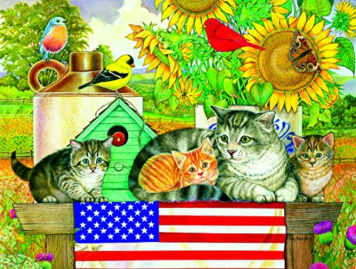 Patriotic Kittens 300 Piece Jigsaw Puzzle by SunsOut