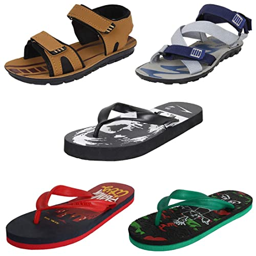 a639fd2ea Earton Mens Stylish   Trendy Multicolor Combo Canvas Flip-Flops   Slippers  (COMBO-
