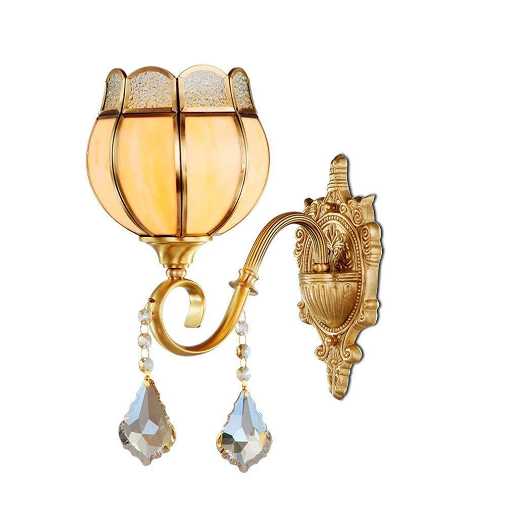 WHKHY The Filling of Copper Communities Aisle Artwork, The Bed Lounge Crystal Lamp Table Lamp Wall Night Bedchamber Lounge Wall Illuminateation Lamp,19H28 Centimeters