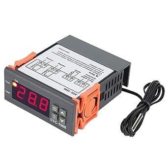 Controlador de Temperatura, Asixx, Termostato Digital, 110-220V, Para Acuario,
