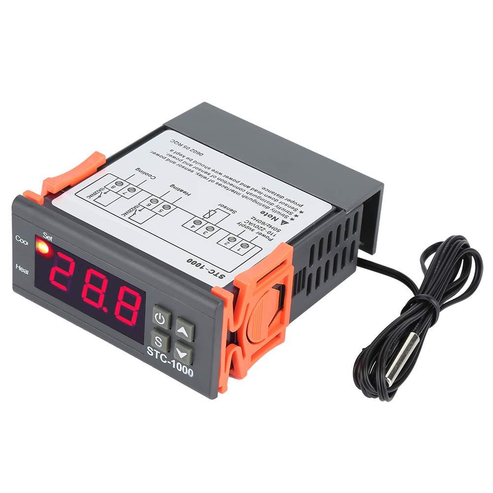 110-220V Digital Temperature Controller Electric Thermostat Control Temp Sensor