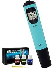 Digital Pen Type pH & Temperature Meter ATC, 0.00-14.00pH & 0.0-55.0degC Water Quality Tester Kit Thermometer, -0.1pH Accuracy