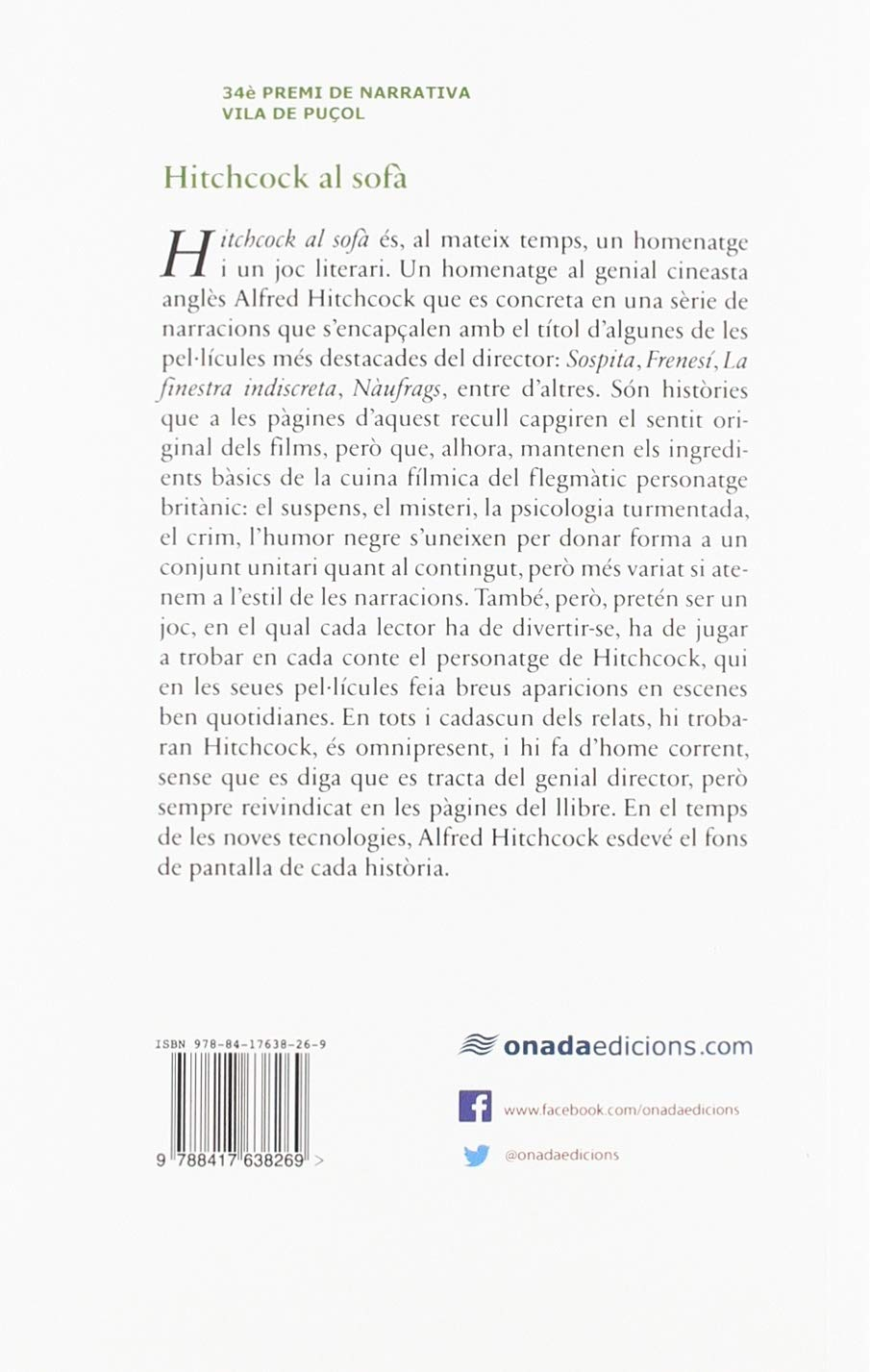 Hitchcock al sofà (Narratives): Amazon.es: Josep Enric ...
